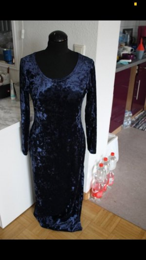 Samtkleid blau royalblau