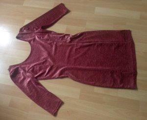 Samtkleid bodycon mit Rosenprägung minikleid neuwertig