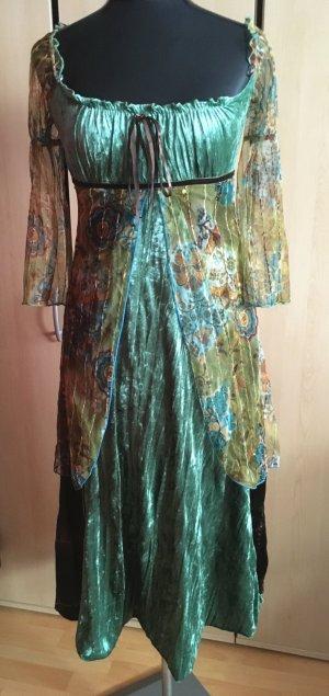 Samtkleid Festliches Kleid mit Pailletten in Grüntöne von DeCo U.S.A. Gr.36/38