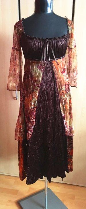 Samtkleid Festliches Kleid mit Pailletten in Rottöne von DeCo U.S.A. Gr.36/38