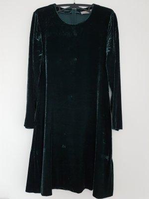 Samtkleid in A-Linie von Hallhuber smaragd Gr. 36