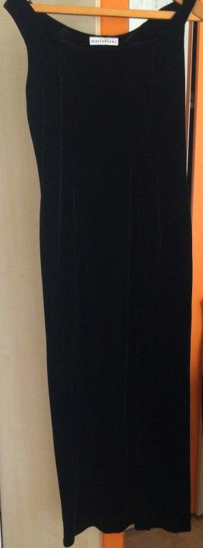 Samtkleid mit Seitenschlitze und bolero