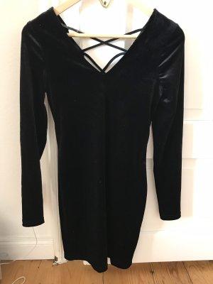 Samtkleid schwarz primark 36
