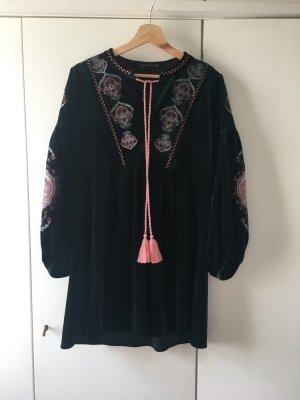 Samtkleid von Zara