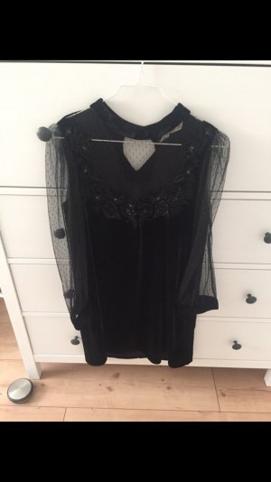 Samtkleid von Zara mit Transparenten Ärmeln. NEU!