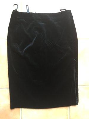 ae elegance Falda de tubo negro tejido mezclado