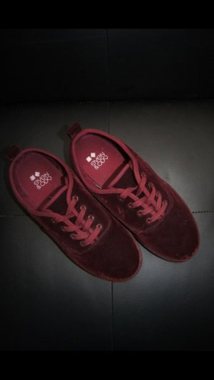 Samtschuhe, Samtsneaker Burgund Bodeaux Even & Odd