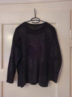 Samtshirt von Zara Größe L