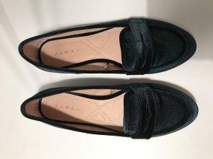 Zara Trafaluc Slippers dark green synthetic material