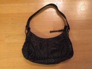 Samtweiche Handtasche / Clutch aus Ziegenleder in schwarz