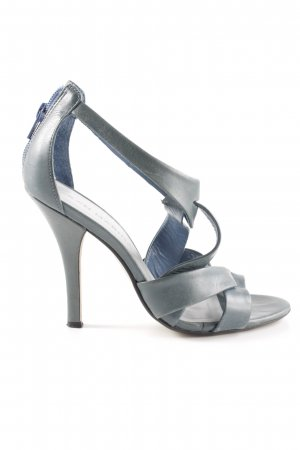San Marina Strapped High-Heeled Sandals light grey-silver-colored business style