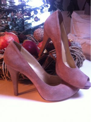 San Marina Schuhe High Heels Gr 38 nude Wildleder