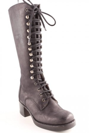Sancho Lace-up Boots black casual look