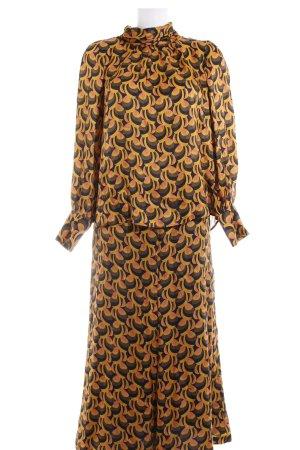 Sand Kostüm abstraktes Muster 70ies-Stil