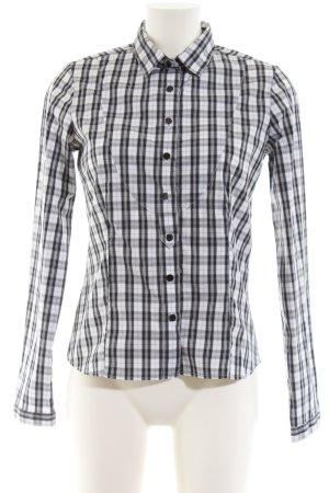 Sand Langarmhemd schwarz-weiß Allover-Druck Casual-Look