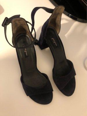 Paul Green Comfort Sandals dark blue suede
