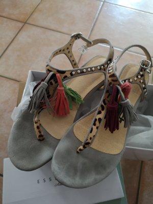 Essentiel Antwerp Strapped High-Heeled Sandals grey-brown