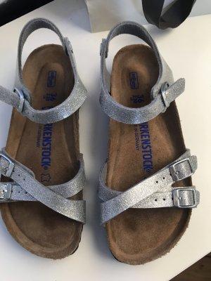 Birkenstock Strapped Sandals silver-colored