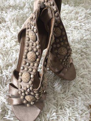 High Heel Sandal bronze-colored