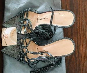 Les Tropéziennes Sandalo con cinturino argento-grigio chiaro Pelle