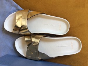 AERIN Comfort Sandals natural white-gold-colored leather