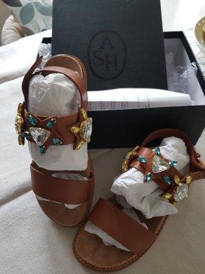 ASH Sandales confort marron clair cuir