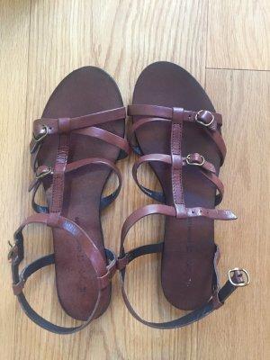 Sandale braun cox Größe 39