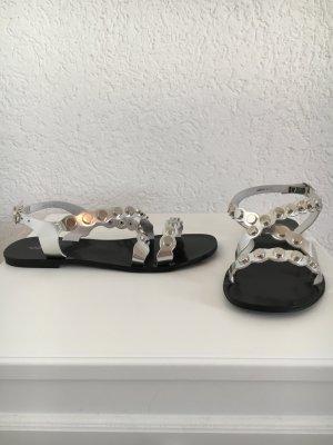 Sandale Cox Silber ungetragen