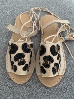 Asos Romeinse sandalen licht beige-zwart