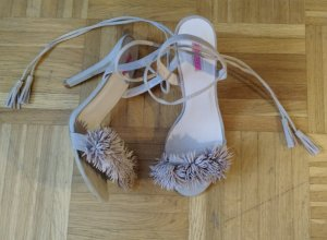Sandale Daisy Street Gr. 38 Asos sandalette schnürung blogger beige nude