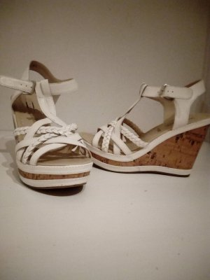 5th Avenue Platform Sandals white