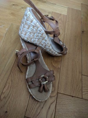 Gant Sandales à plateforme brun-brun sable cuir