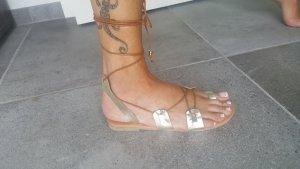 Sandalo romano multicolore Pelle