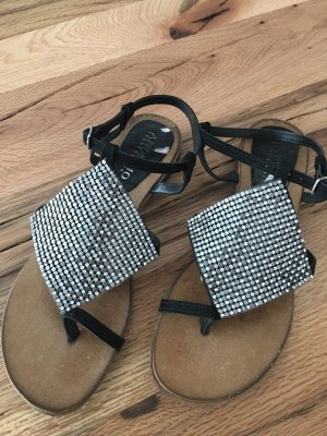 Andiamo Sandals black-silver-colored