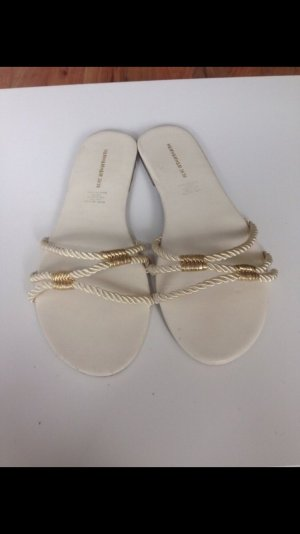 H&M High-Heeled Sandals gold-colored-cream