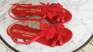 Sandale in rot von Pedro Mirales, Gr. 38 einmal getragen