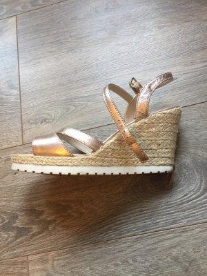 Sandale Keilabsatz Roségold