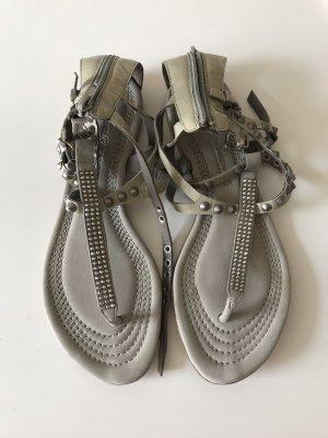 Sandale Kennel & Schmenger Swarovski beige/grau 37 4,5 NEU
