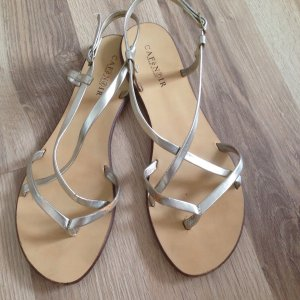 Café Noir Toe-Post sandals gold-colored