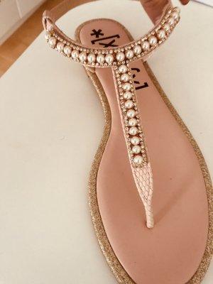 Flip flop sandalen roségoud-roze