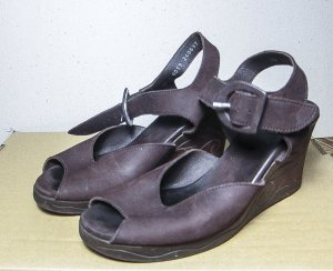 Arche Shoes brown violet leather