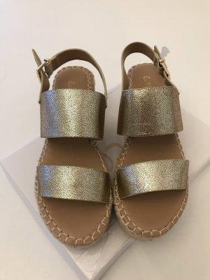 Platform Sandals gold-colored