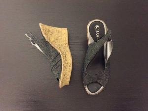 Sandale mit Korkabsatz