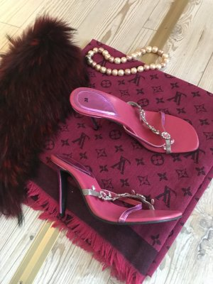 Sandale mit Metallelementen Gr.38 nur einmal getragen