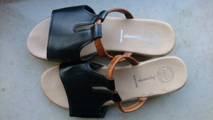 Sandale schwarz Gr. 40 / Leder