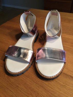 Sandale Silber von ASOS 38