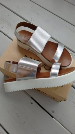 Sandale silberfarben