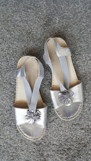 Caprice Comfort Sandals silver-colored