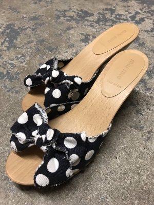 Miu Miu Clog Sandals multicolored