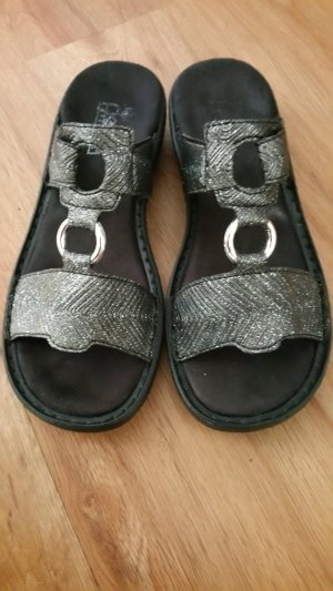 Rieker Shoes black-silver-colored leather